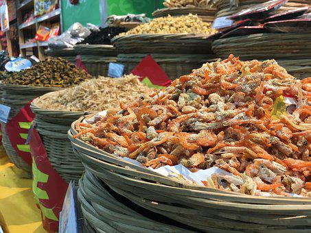 Crabs, Dried, Food, Eat, China, Nutrition, Feed, Asia