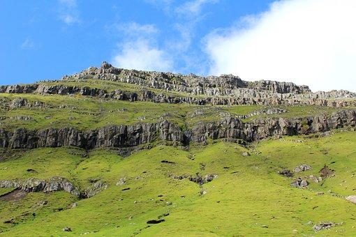 Mountain Side, Funningur, Eysturoy, Faroe Islands