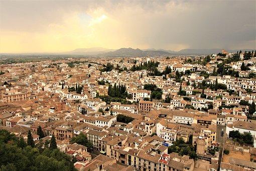 Granada, Panorama, Spain, Landscape, Andalusia, Church