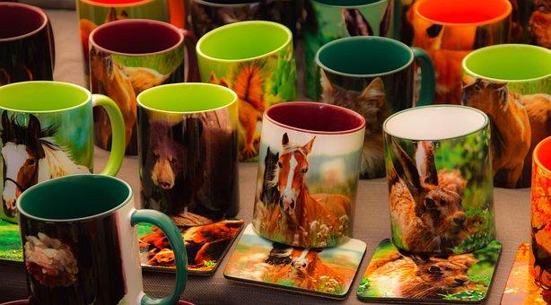 Mug, Images Of Animals, Tableware