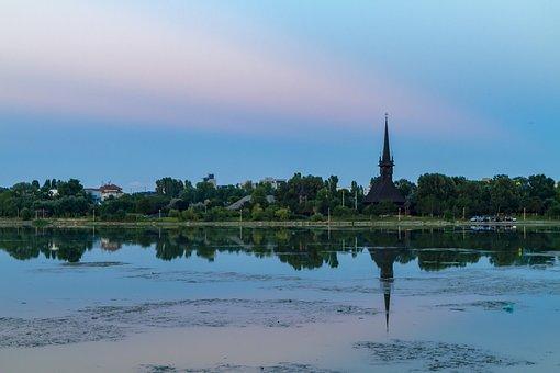 Lake, Landscape, Nature, Blue, Reflection, Sky, Quiet