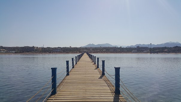 The Pier, Sea, Water, Holiday, Landscape, Summer, Sky