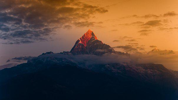 Himalayas, Mountain, Travel, Nature, Fishtail, Nepal