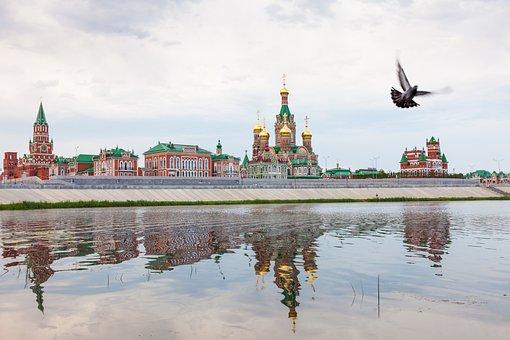Yoshkar-ola, City, Russia, Architecture, Reflection