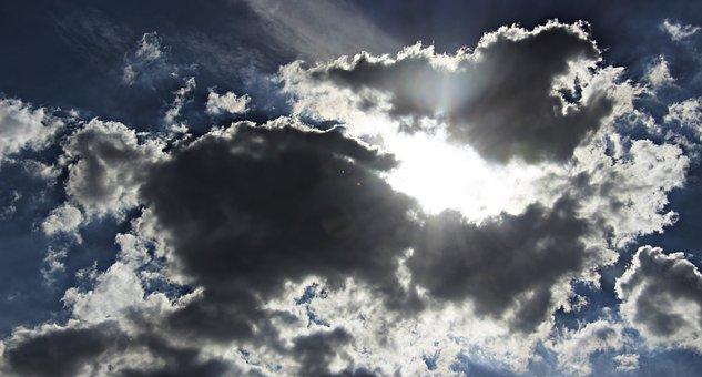 Clouds, Sunshine, Sky, Nature, Sunlight, Scene, Sun