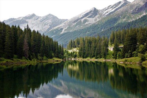 San Bernardino, Switzerland, Mountain, Landscape, Lake