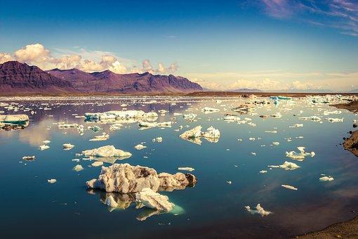 Iceland, Glacier, Ice, Quiet, Travel, Scenery