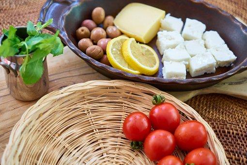 Breakfast, Vegetable, Fruit, Tomato, Lemon, Cheese
