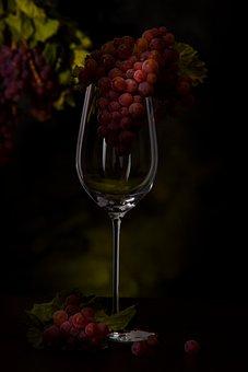 Grapes, Wine Glass, Vines, Vintage, Wine, Drink, Fruit