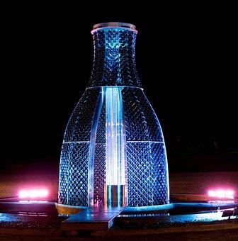 Abrau Durso, Fountain, Water, Lighting, Spray, Twilight