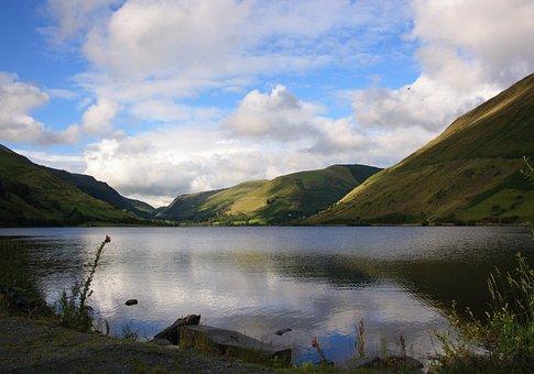 Talyllyn, Tywyn, Wales, Lake, Mountains, Nature, Water