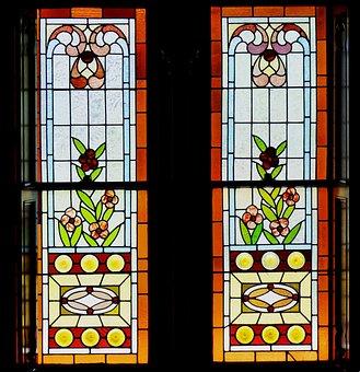 Glass Art, Window, Temple, Mormen, Pattern, Christian