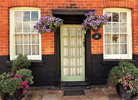 House, Door, Windows, Architecture, Entrance, Doorway