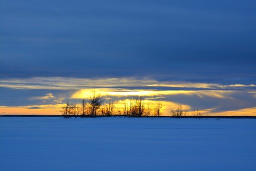 Sunset, Winter, Hindersön, Luleå