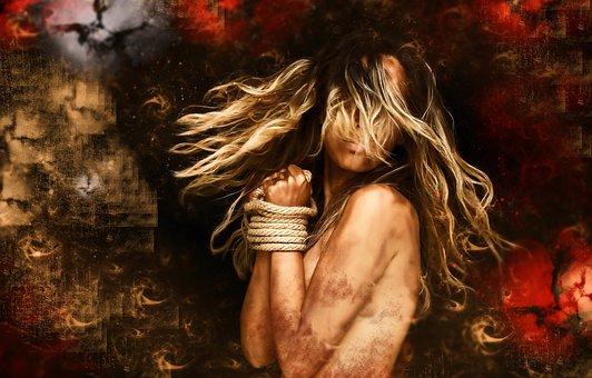 Woman, Digital Creation, Background, Texture, Girl