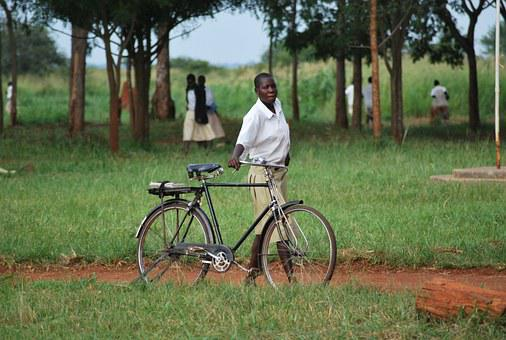 African, Student, Bicycle, Girl, School, Young, Women