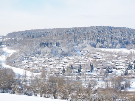 Allotments, Ulm, Teacher Tal, Forest, Landscape, Winter