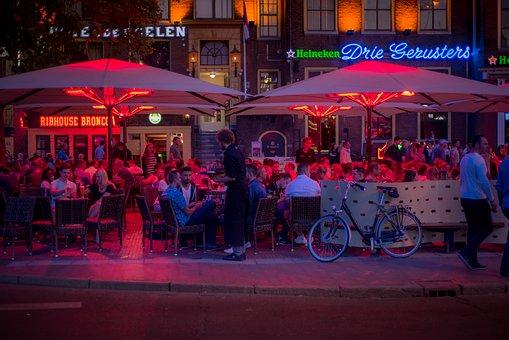 Drinks, Groningen, Terrace, People, Bar, Cafe, Bistro