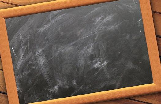 School, Board, Empty, Slate, Blackboard, Chalk