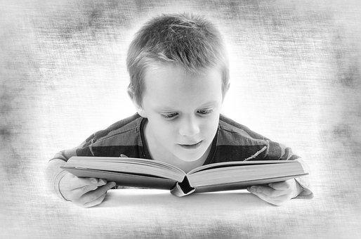 Read, Book, Boy, Child, Kid, Student, Think, Teen, Test