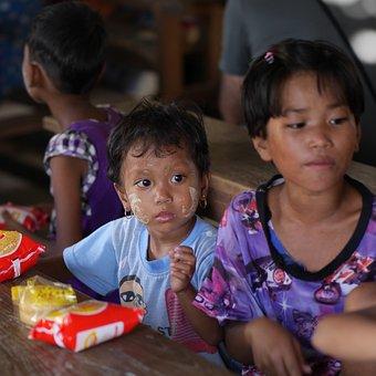 School, Burma, Third World, Children, Girl, Classroom