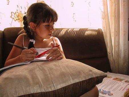 Student, Girl Studying, Learning, Child, Girl