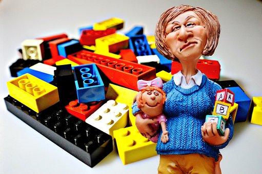 Baby-sitter, Children Educator, Lego, Play Stone, Toys