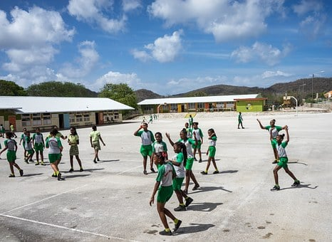 Curacao, School, Students, Children, Caribbean
