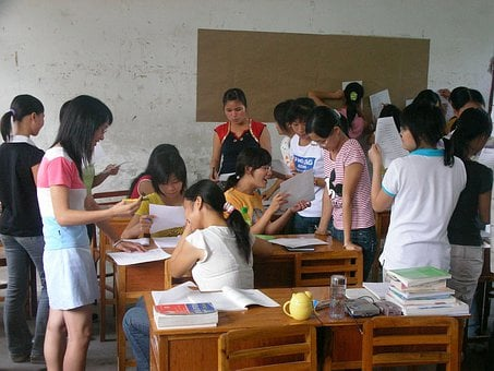 Class, Discussion, Girls, Study, Child, Face, Kid
