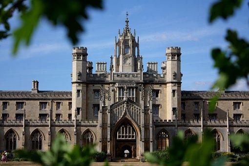 Old, Building, Castle, Cambridge, College, Student