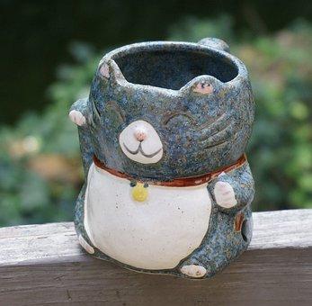 Mug, Kitty Mug, Cute, Handmade, Craft, Handicraft, Clay