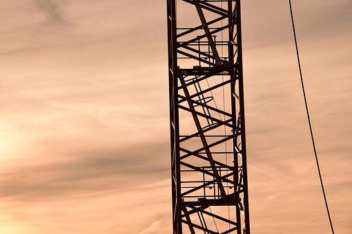 Crane, Baukran, Site, Technology, Sky