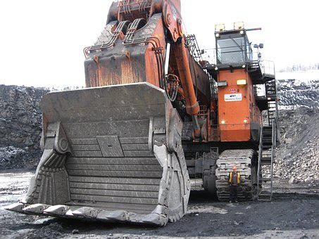 Excavator, Hitachi 8000, Huge, Industrial, Mining