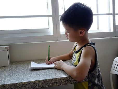 Writing, Boy, Child, Student, Kid, Homework, Pencil