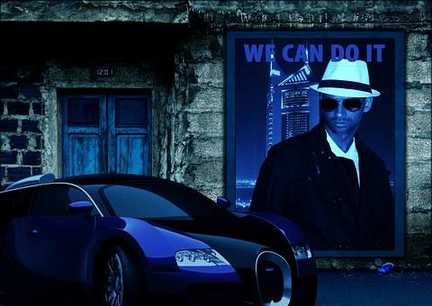 Auto, Poster, Movie Scene, Possible, Mysterious, Scene