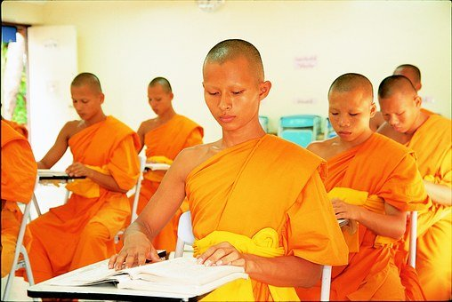 Novices, Buddhist, Learn, Wat, Phra Dhammakaya, Temple