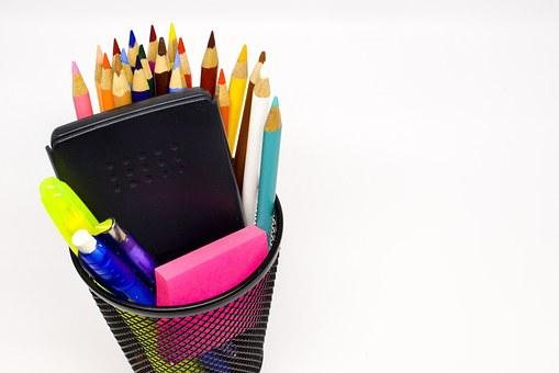Back To School, School Supplies, Pencil, Education