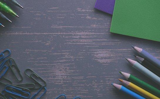 Pencils, Clips, Colour Pencils, Foam Rubber