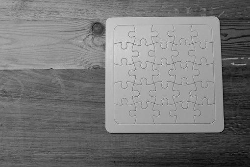 Puzzle, Empty, White, Puzzle Piece, Play, Patience