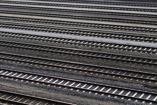 Gleise, Train Tracks, Railway, Gravel, Track Bed, Rails