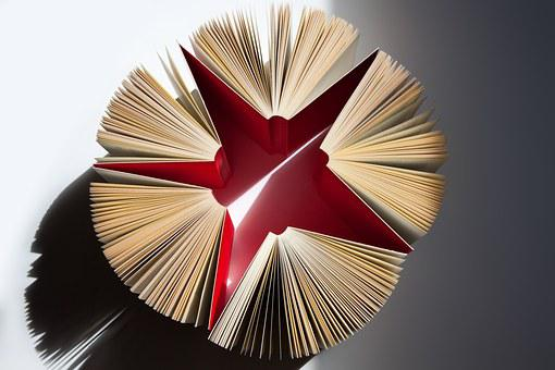 Books, Pages, Expanded, Star, Red, Sigmund Freud