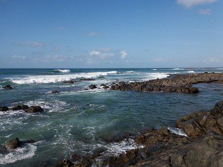 Mar, Beach, Nature, Water, Beira Mar, Rocks, Sol