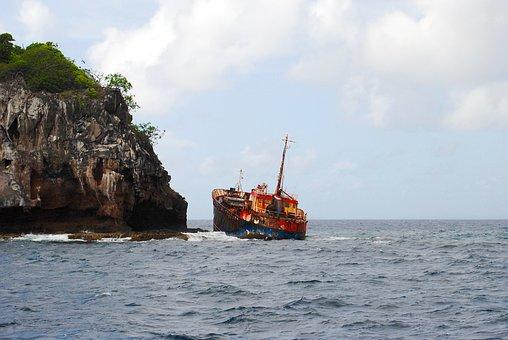 Ship, Shipwreck, Wreck, Tanker, Boat, Sunk, Sinking