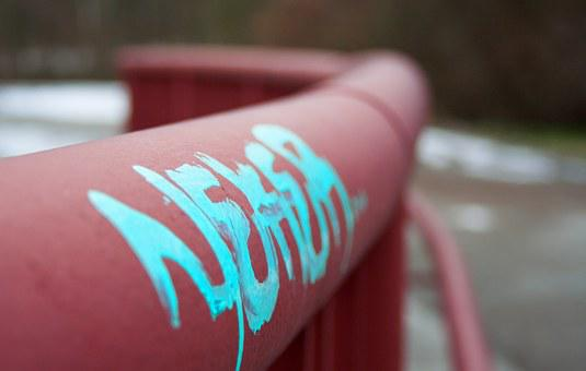 City, Railing, Art, Graffiti, Youth, Word, Saying