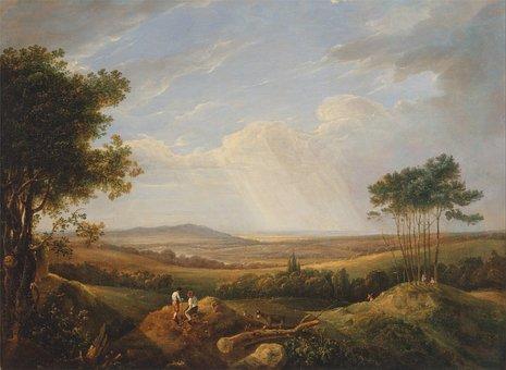 Thomas Hastings, Art, Painting, Oil On Canvas, Sky