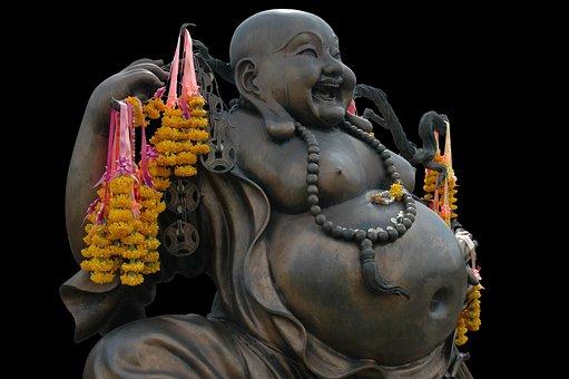 Buddha, Shamanism, Laugh, Look Forward, Obese, Bronze