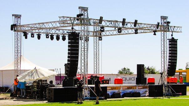Stage, Concert, Equipment, Crew, Staff