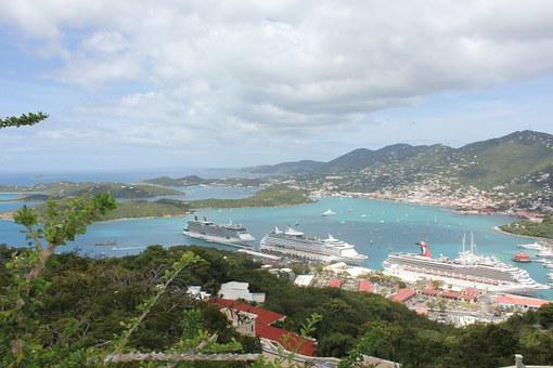 Virgin Islands, Cruise Ship, St Thomas, View, Holidays