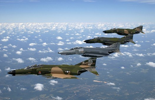 Fighter Jet, Air Force, Phantom Ii, Aircraft, F 4e