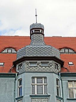 Mickiewicza Street, Bydgoszcz, Turret, Building, Facade